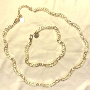 Necklace and bracelet set.